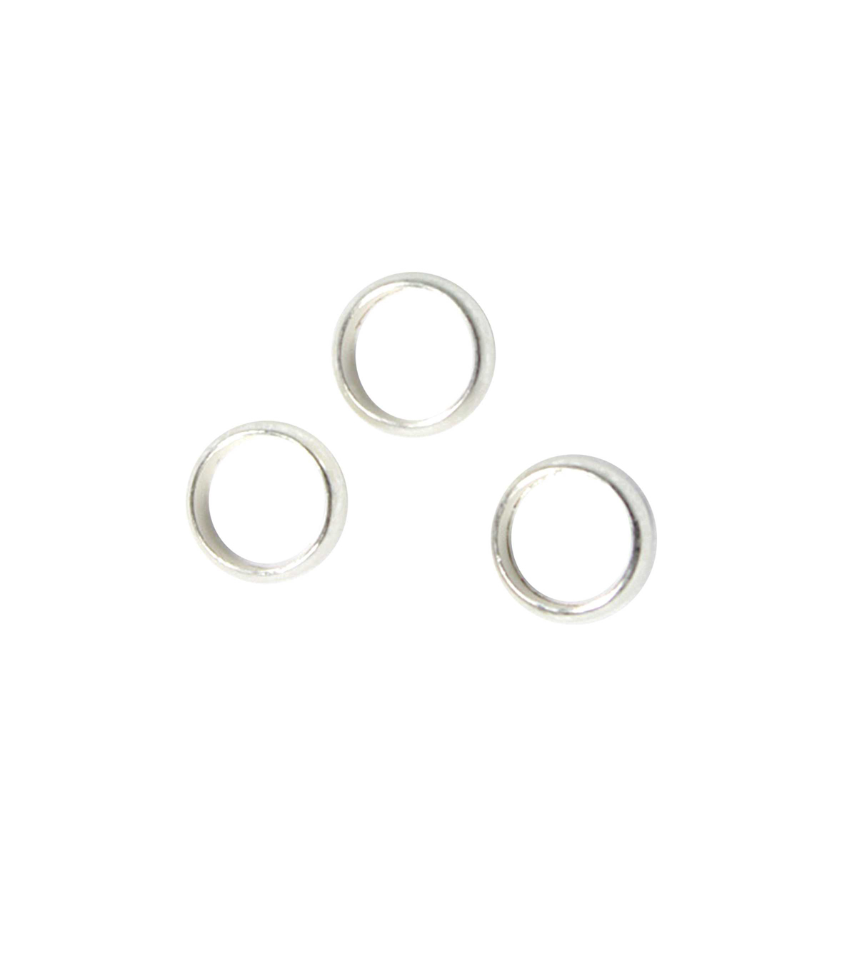 Blue Moon Findings Ring Metal Thick 6mm Matte Silver