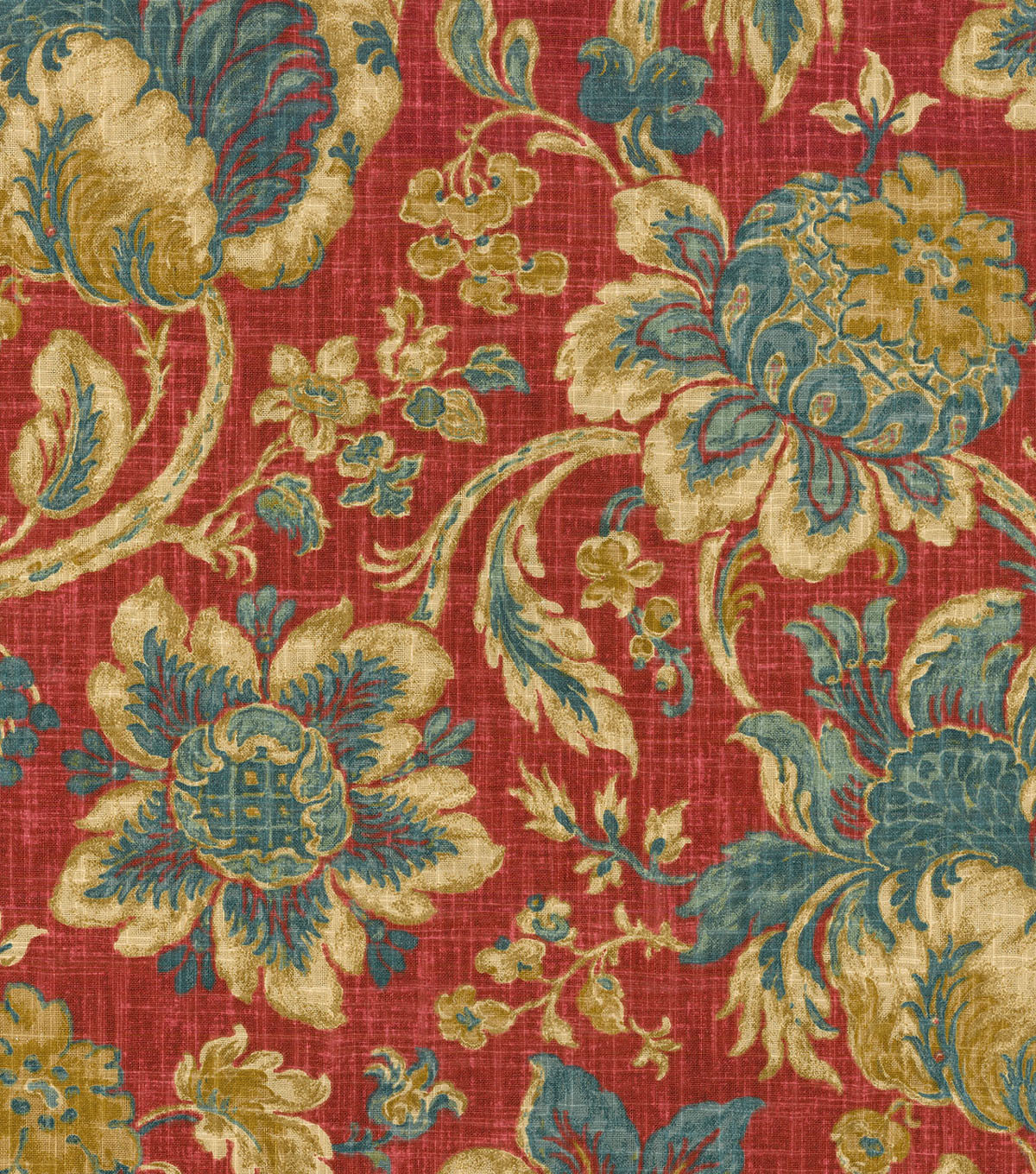 Waverly Print Fabric 54\u0022-Arbor Imagery/Jewel