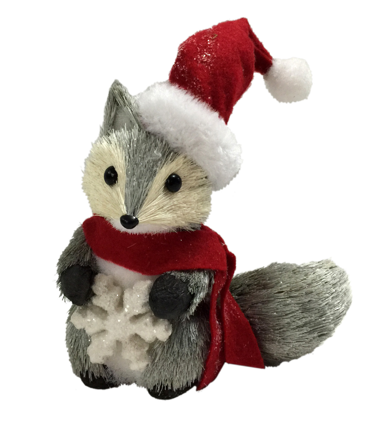 Blooming Holiday Fox Holding Snowflake