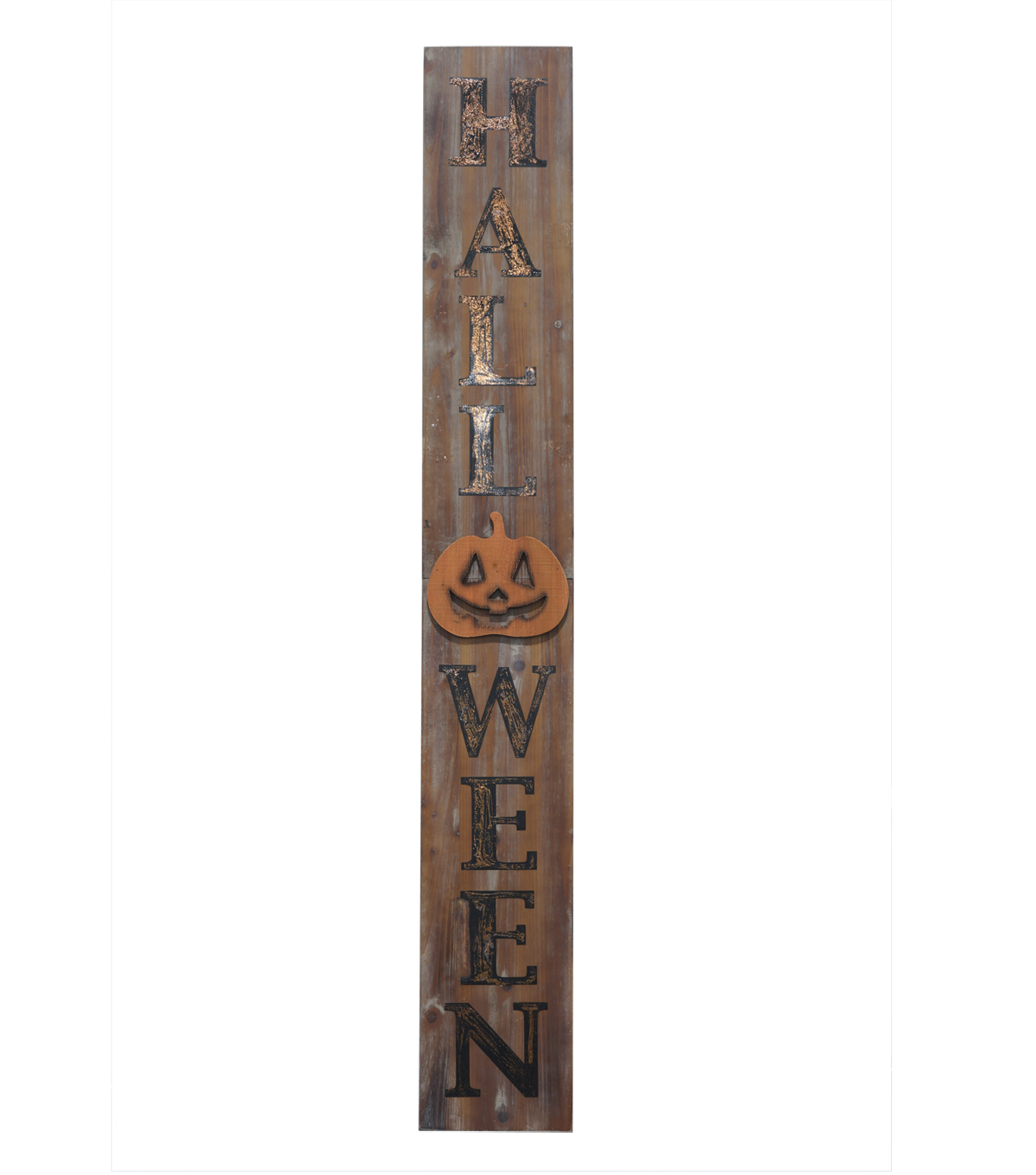 Maker\u0027s Halloween Wood Porch Sign-Halloween on Natural