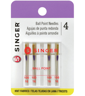Singer Ball Point Machine Needles 4/Pk-Size 16/100