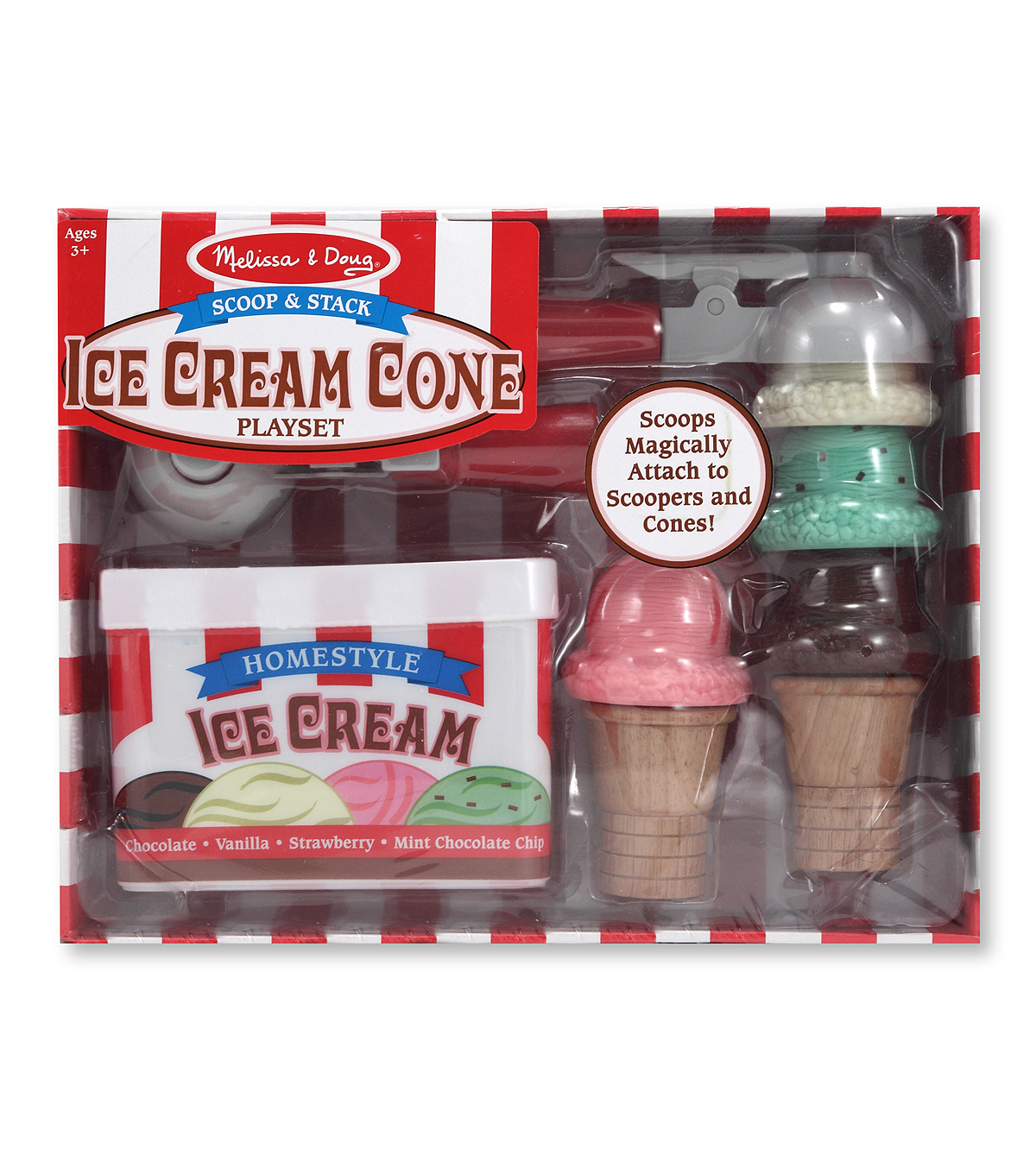 Melissa  &  Doug Scoop And Stack Ice Cream Cone Playset