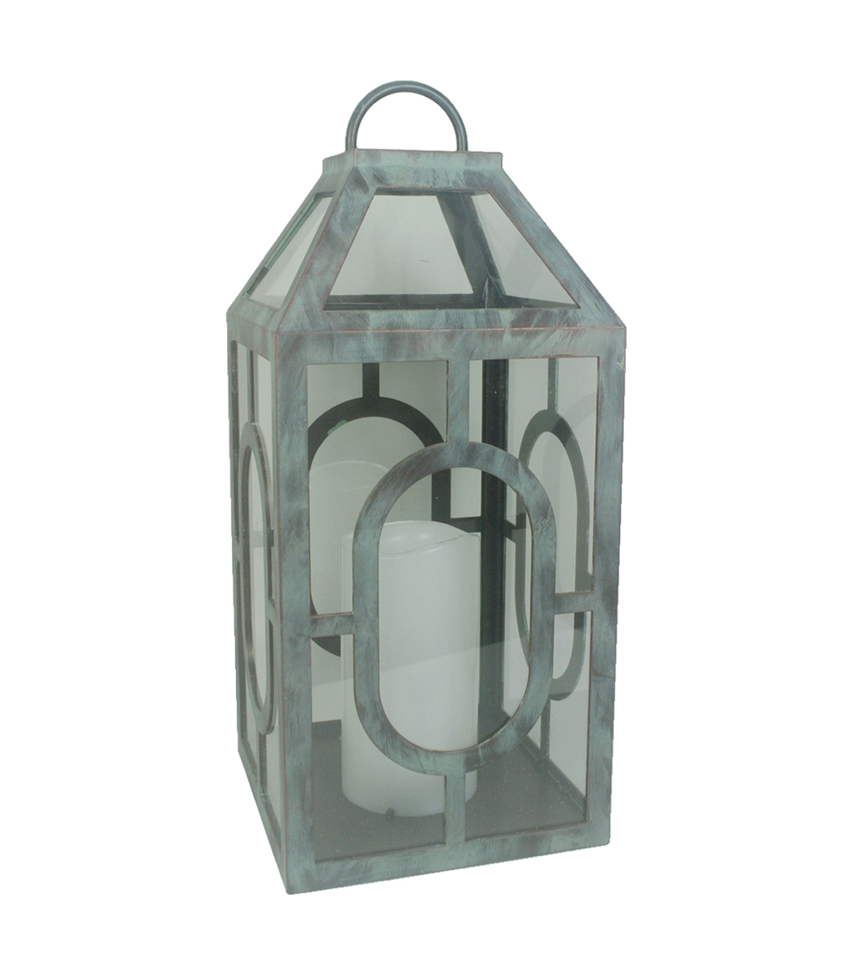 Hudson 43™ Candle & Light Collection Grey Distressed W Led Lg