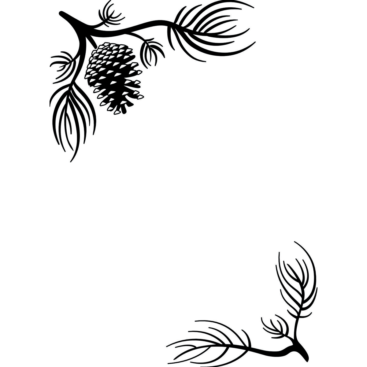 Darice Embossing Folder Pine Branches