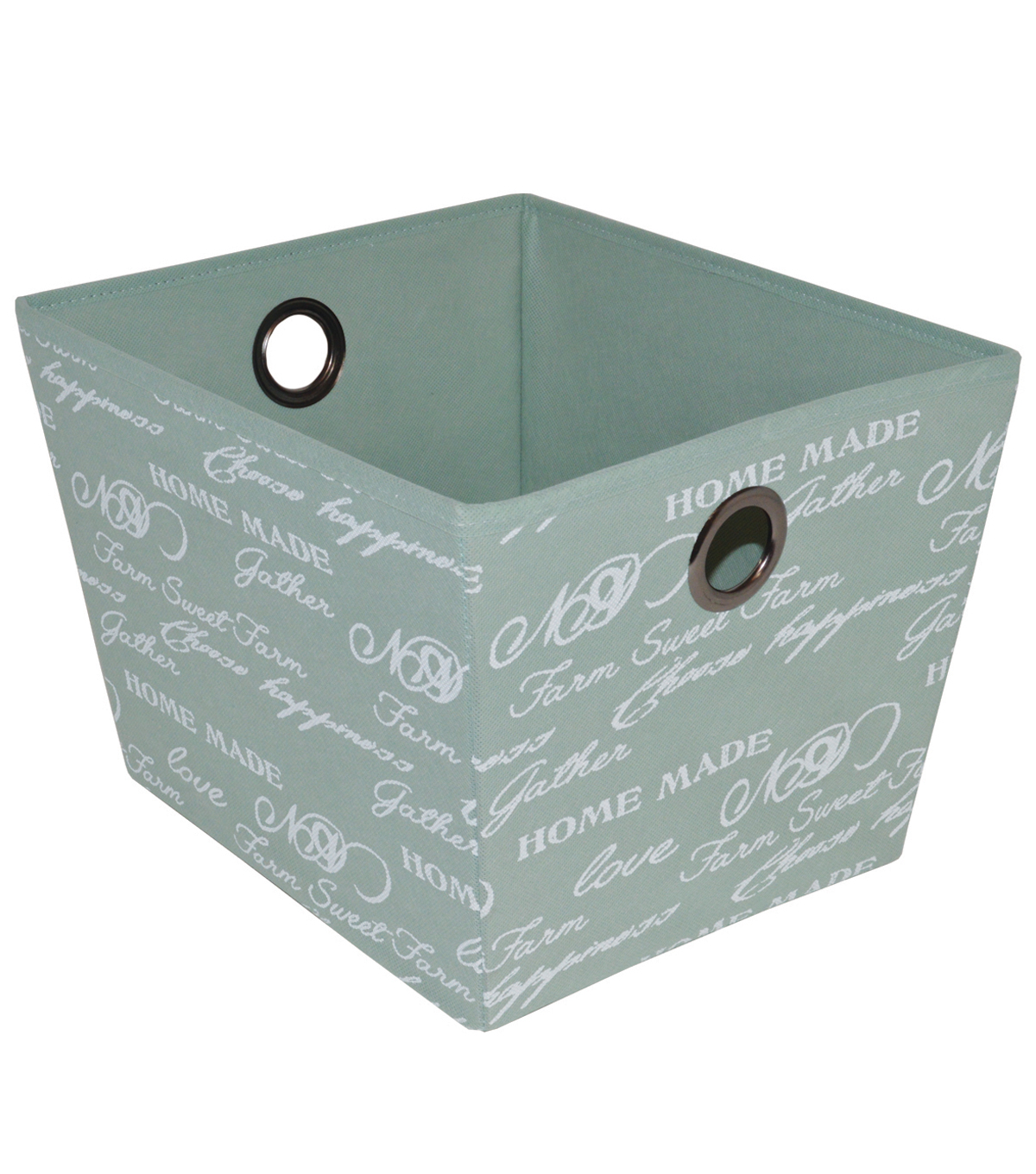 Farm Storage Medium Bin-Script on Green