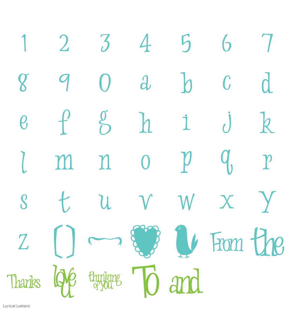 Cricut® Lyrical Letter Cartridge
