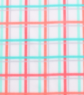 "Blizzard Fleece Fabric 59""-Coral Mint Plaid"