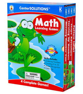 Math Learning Games Board Game CenterSolutions- Grade K