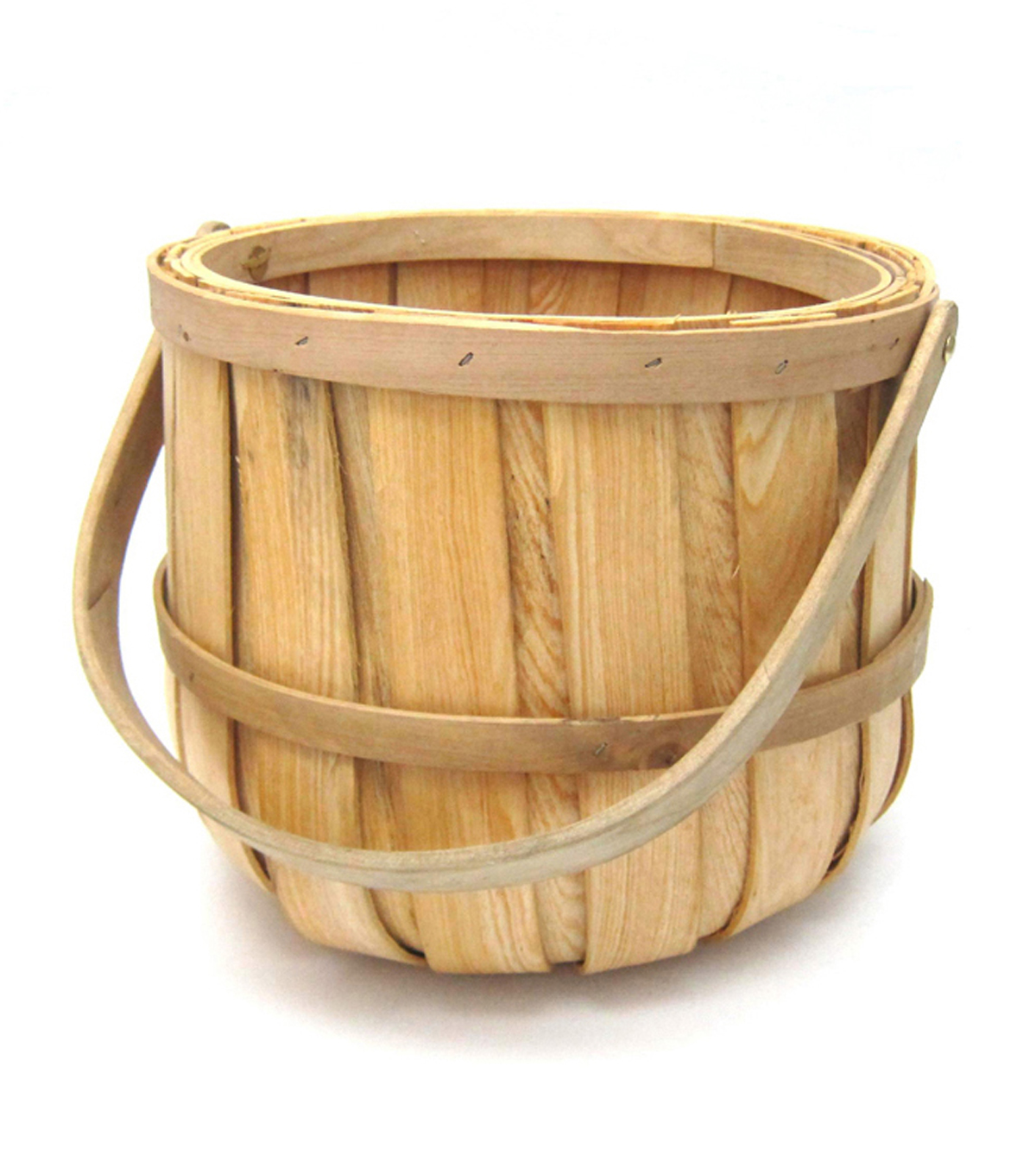 Blooming Spring Wood Bushel Basket
