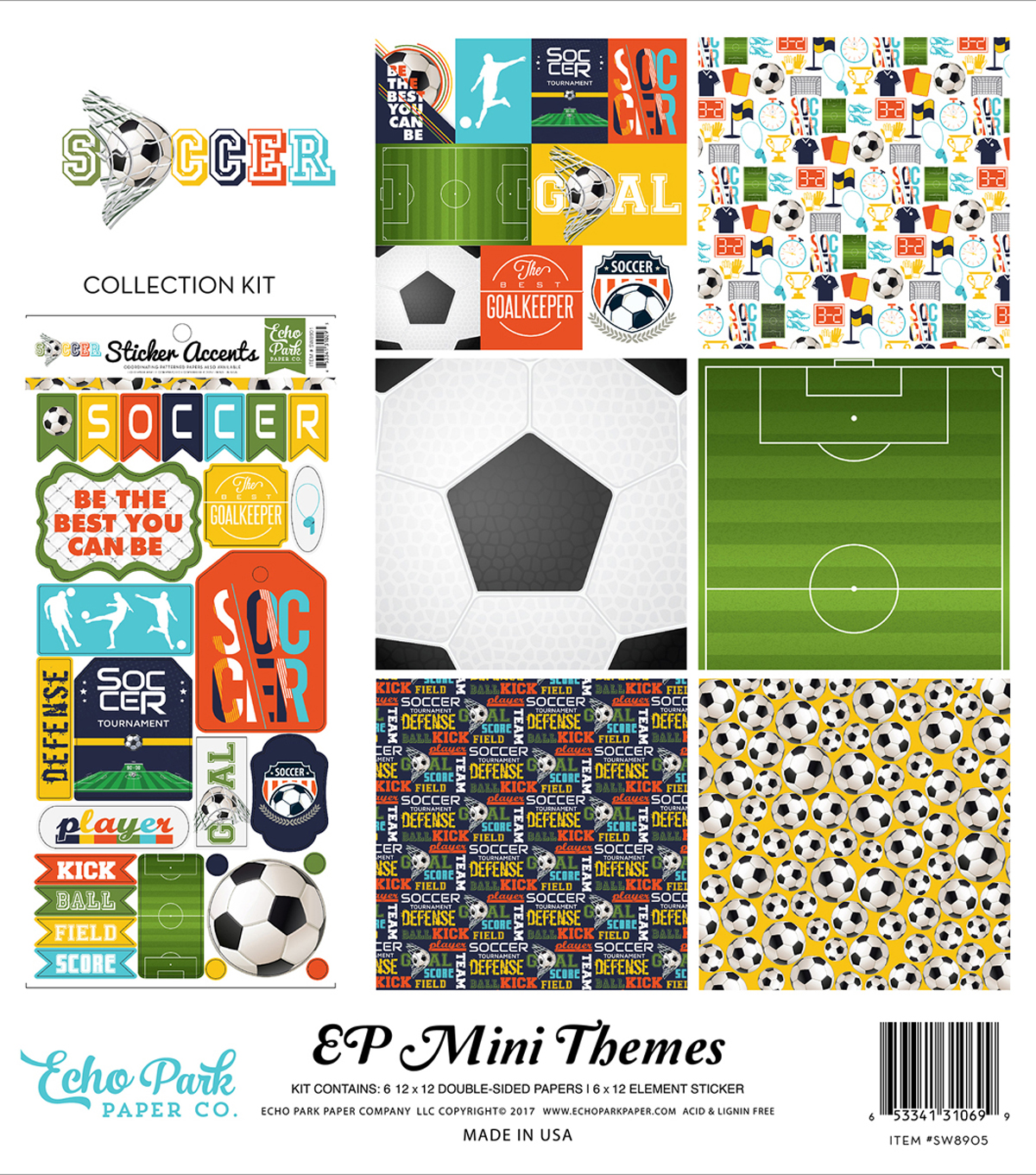 "Collection Kit 12""X12""-Soccer"