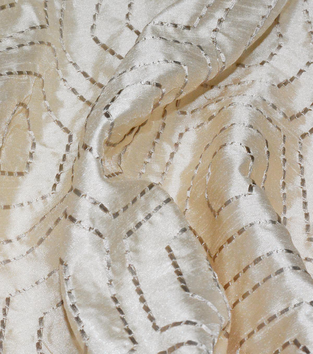 Waverly Embroidered Upholstery Fabric 54\u0027\u0027-Sandstone Solstice