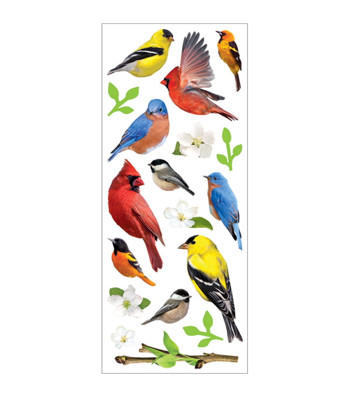 Paper House 3-D Sticker Backyard Birds