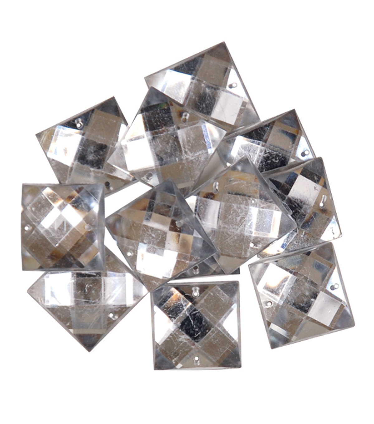 Favorite Findings Gems-Large Clear Squares 11/pkg