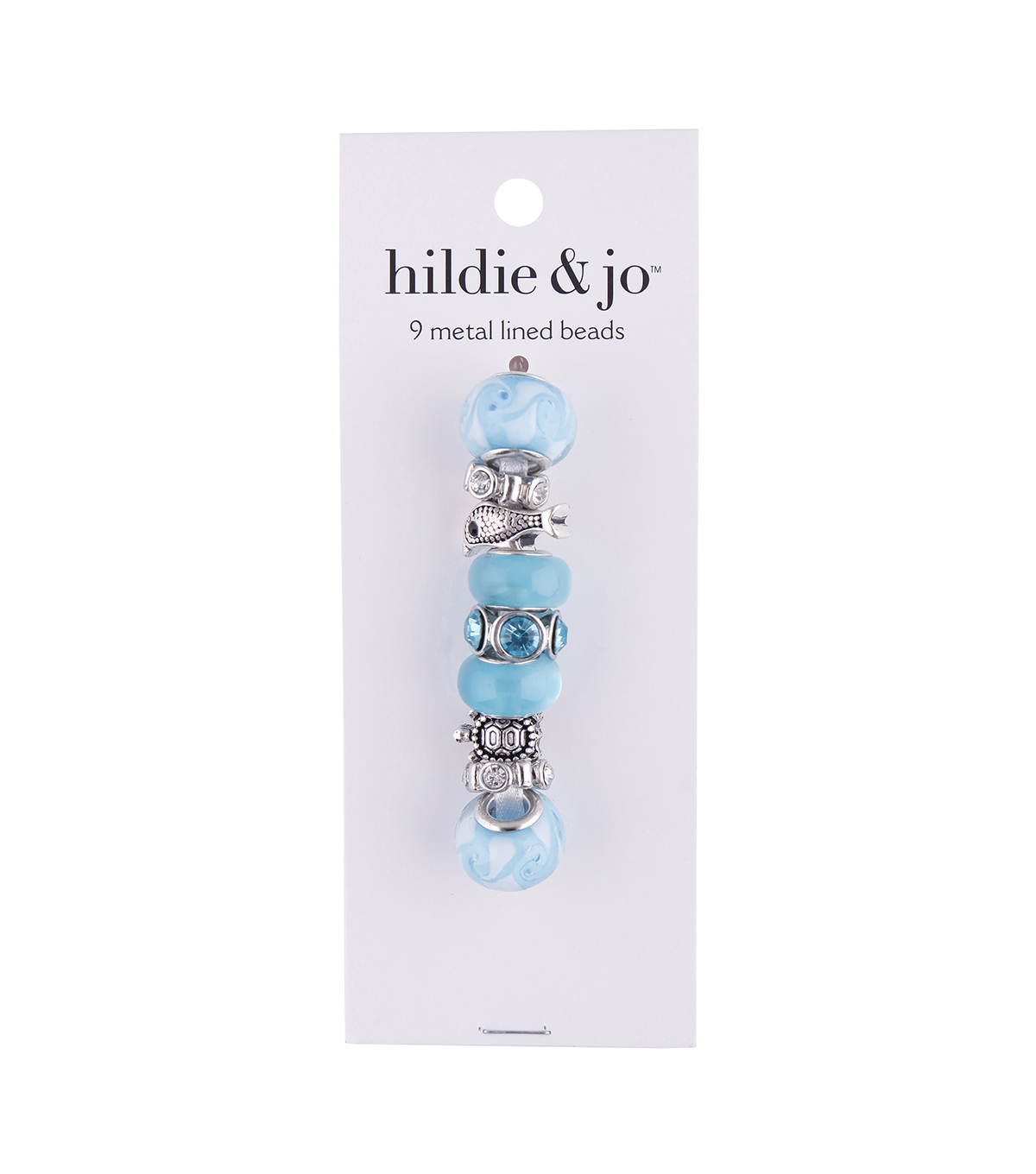 hildie & jo™ Mix & Mingle Metal Lined Glass Beads-Sea Blue