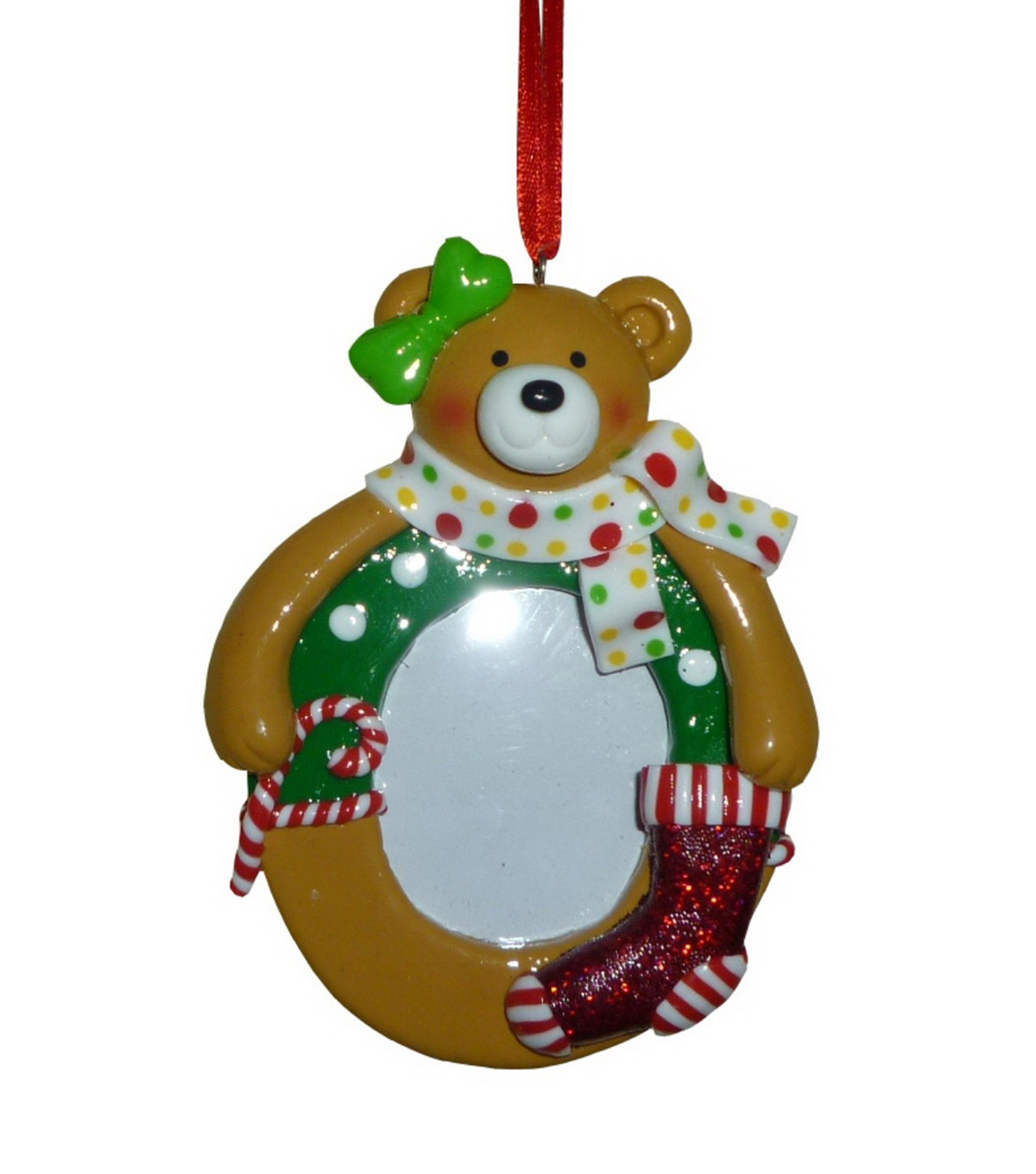 Maker\u0027s Holiday Bear Frame Ornament