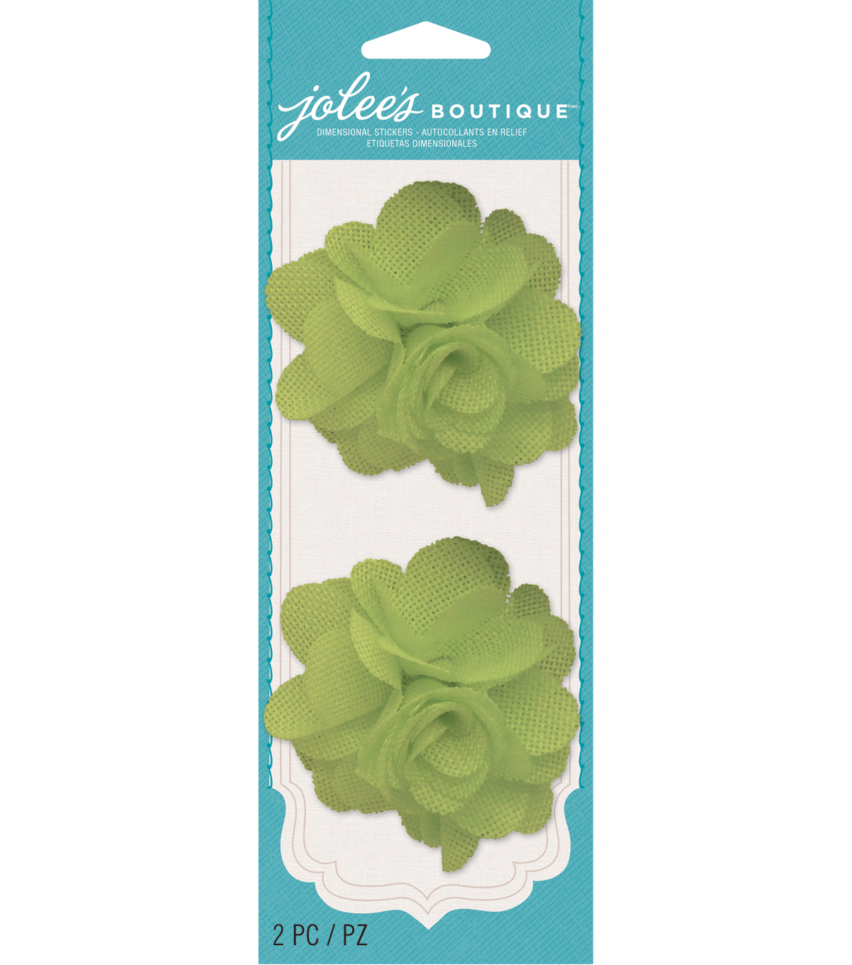 Jolee\u0027s Boutique - Lime Green Burlap Flowers