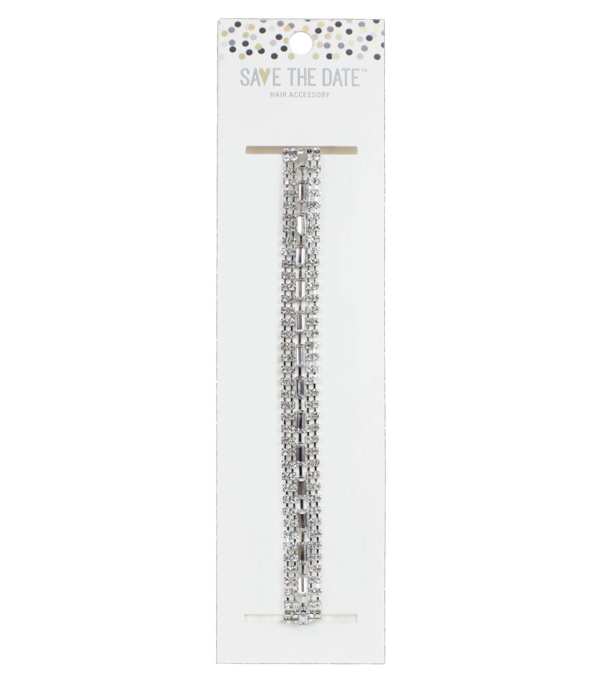 Save The Date™ 20\u0027\u0027x0.5\u0027\u0027 Square Rhinestone Stretch Headband