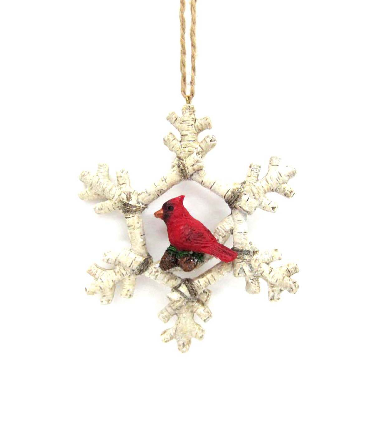 Maker's Holiday Cardinal in Snowflake Ornament