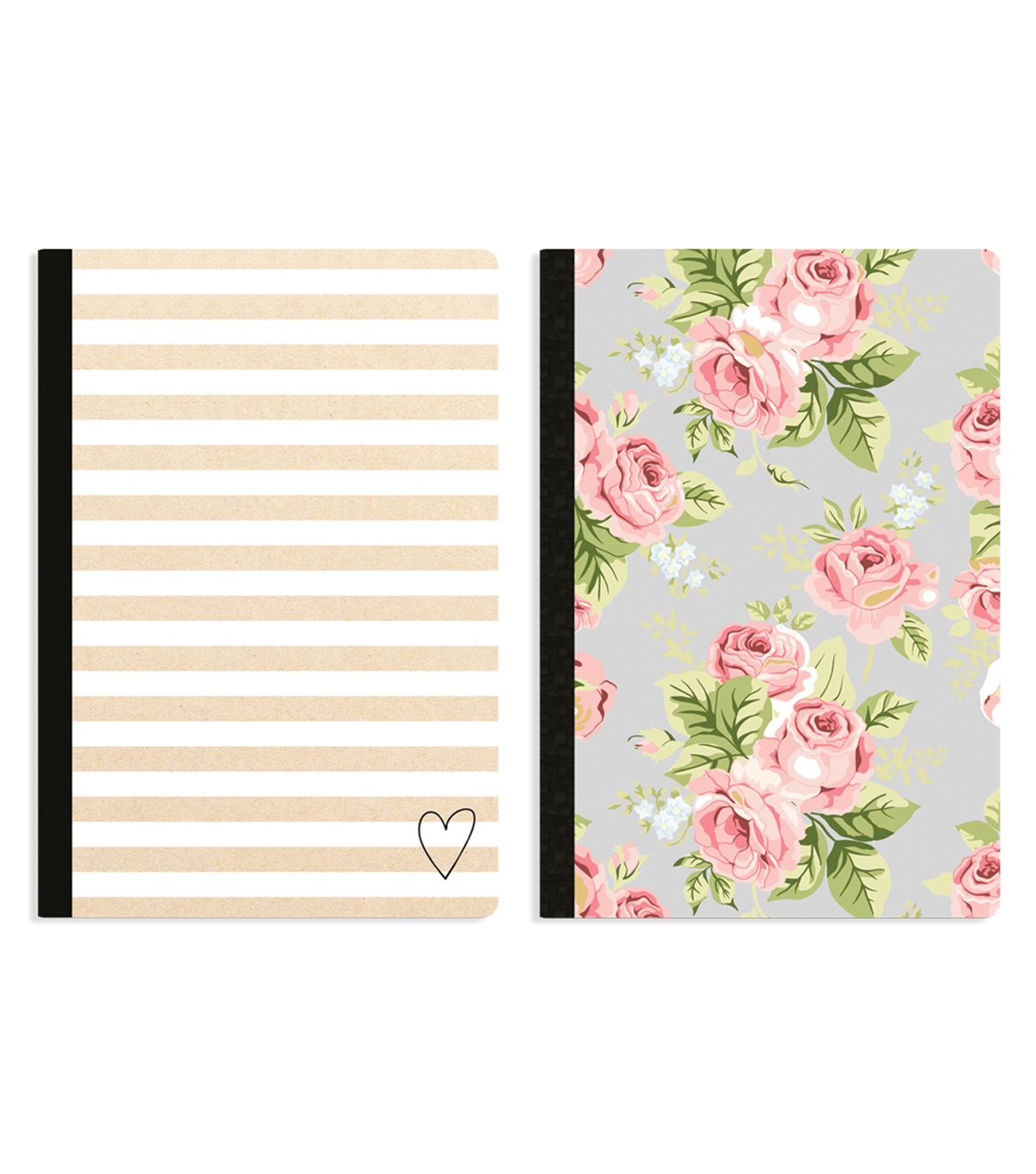Webster's Pages Color Crush 2 Pack Composition Notebook-Floral & Stripe