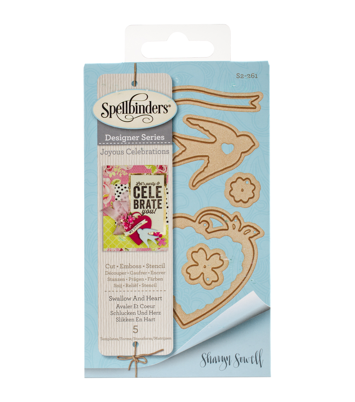 Spellbinders® Shapeabilities® Etched Die-Swallow & Heart