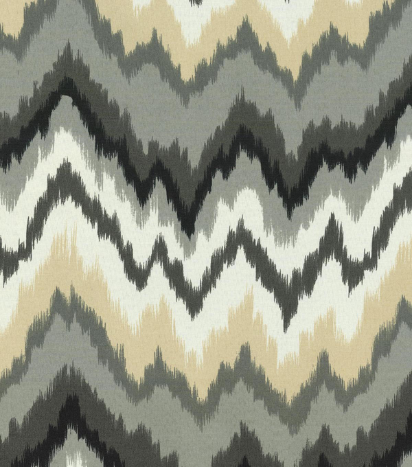 Waverly Outdoor Fabric 54\u0022-Borderline Ebony