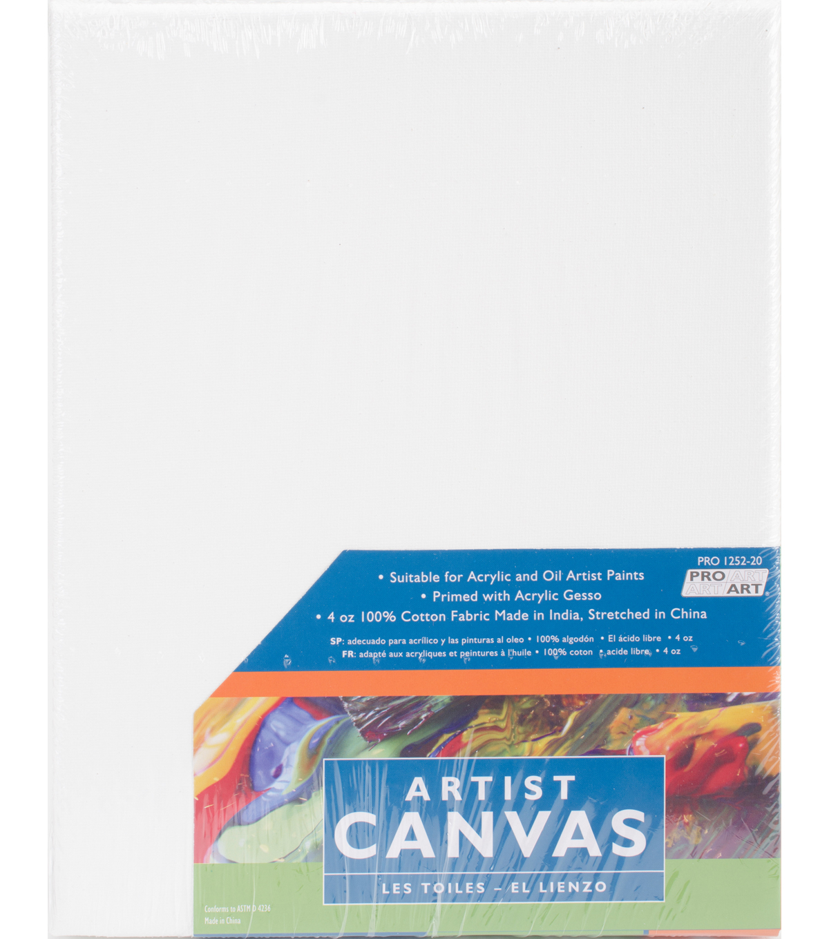 "Pro Art Stretched Artist Canvas Twin Pack 2 Pack 8""X10"""