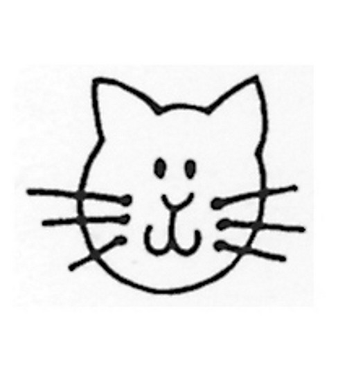 Stampendous Rubber Stamp-Cat Face