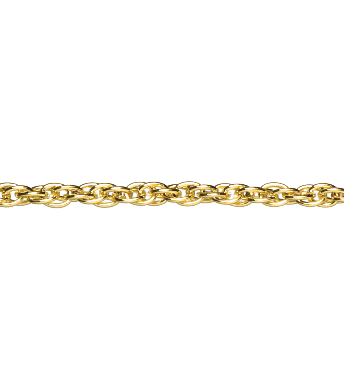 "Jewelry Basics Metal Small Twisted Chain 34"" 1/Pk-Gold"