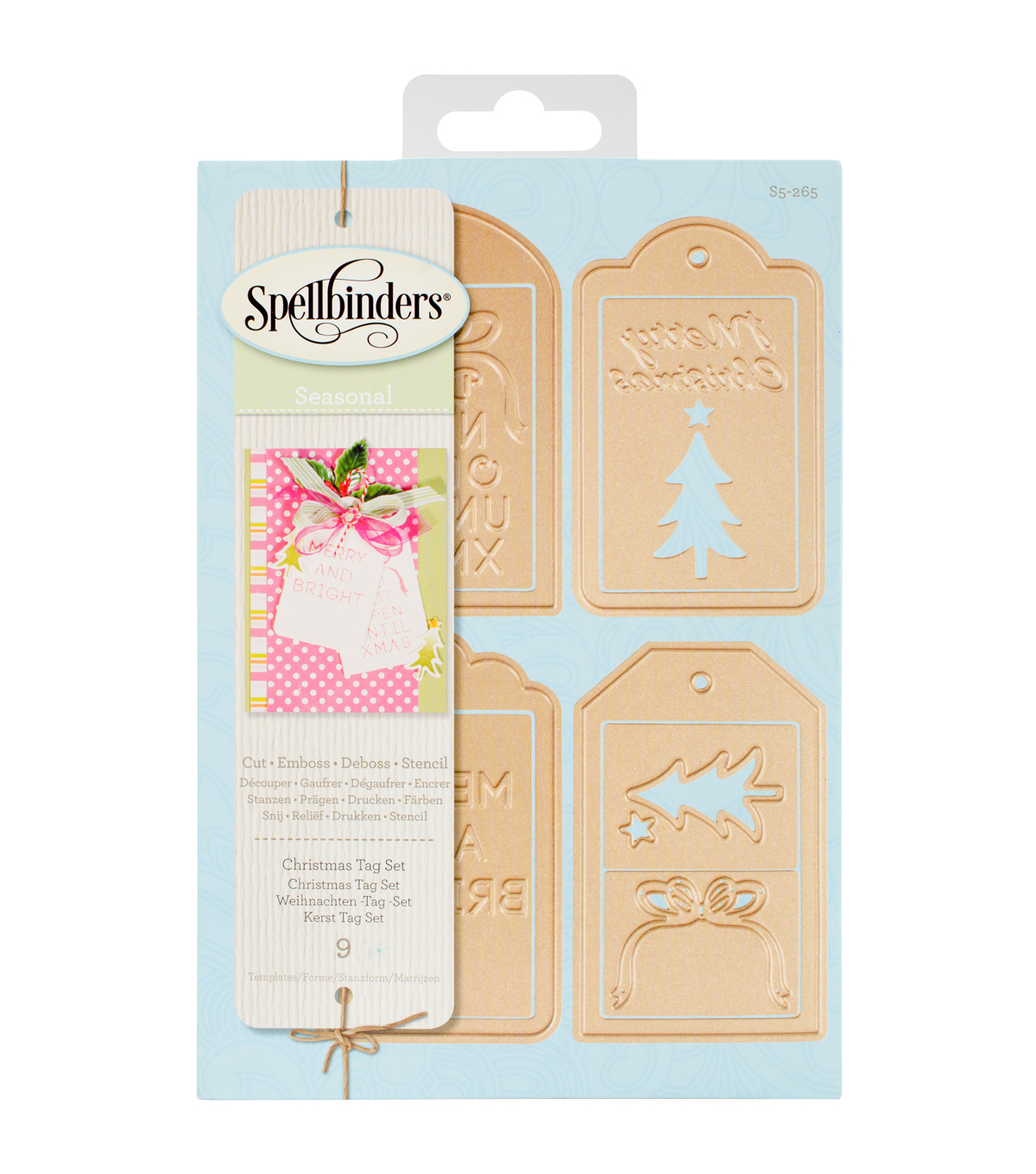 Spellbinders® Shapeabilities® 9 Pack Etched Dies-Christmas Tag