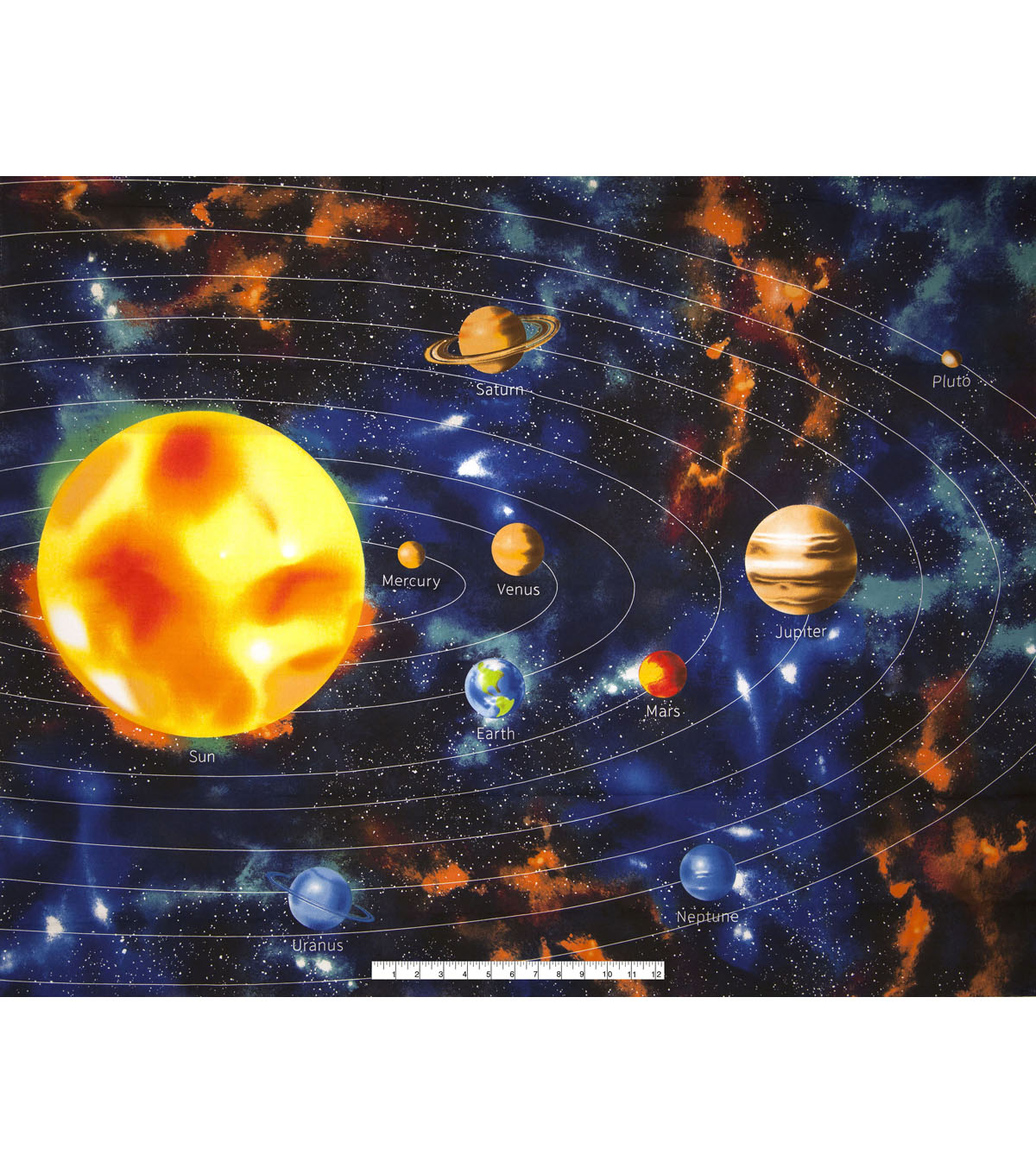 Novelty Cotton Fabric 43\u0022-Space Panel
