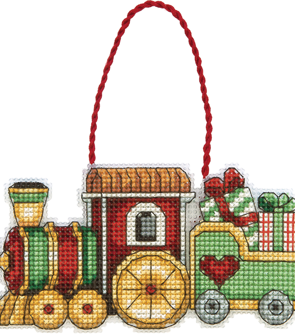Train Ornament Counted Cross Stitch Kit
