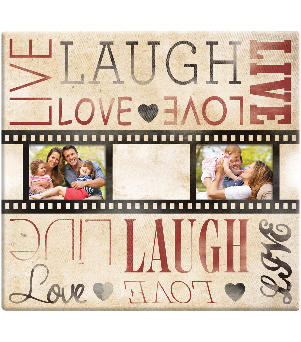 "Live Laugh Love Film Strip Post Bound Scrapbook 12""X12""-"
