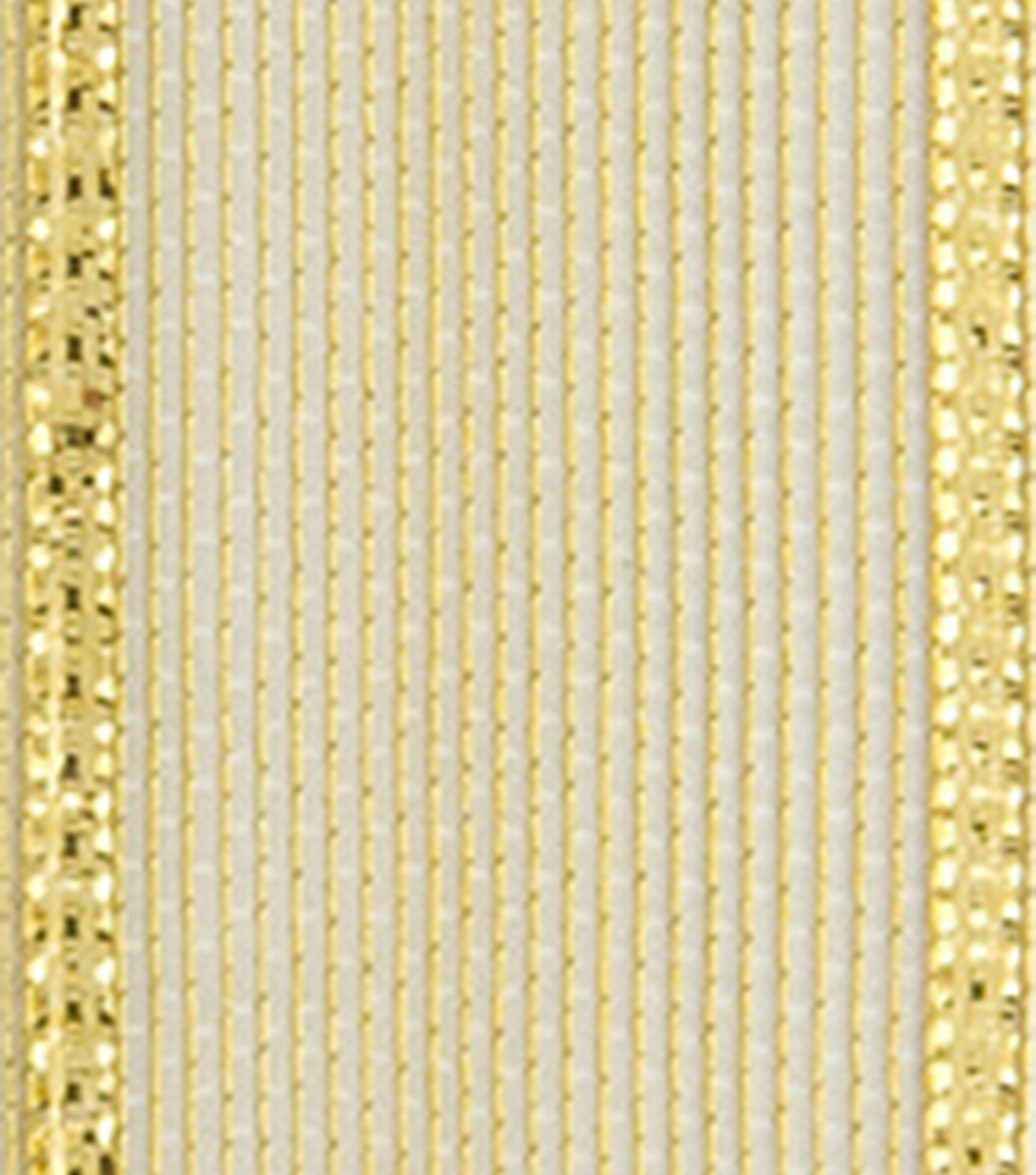 Offray 5/8\u0022x9\u0027 Aria Metallic Woven Wired Edge Ribbon-Gold