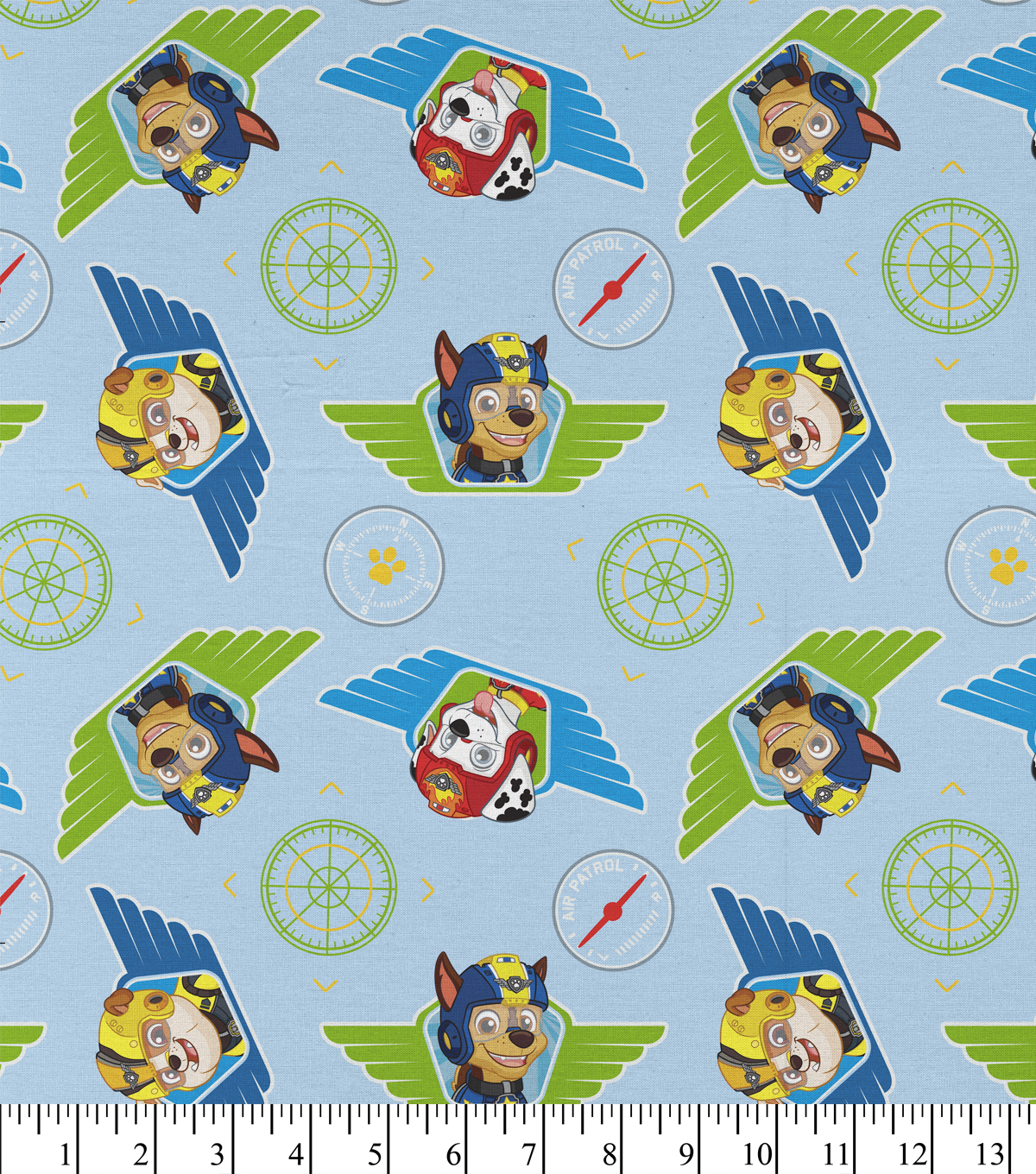 Paw Patrol Cotton Fabric 43\u0022-Heroes Of The Sky