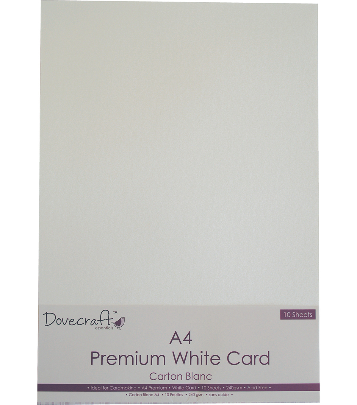 Dovecraft 10 pk A4 240gsm Premium Smooth Finish Cards-White