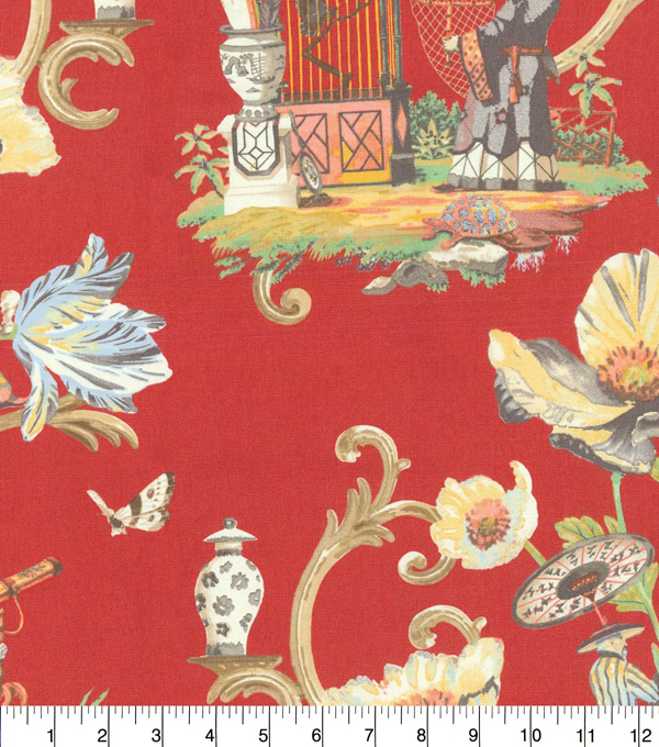 P/K Lifestyles Upholstery Fabric 54''-Cinnabar East of the Moon