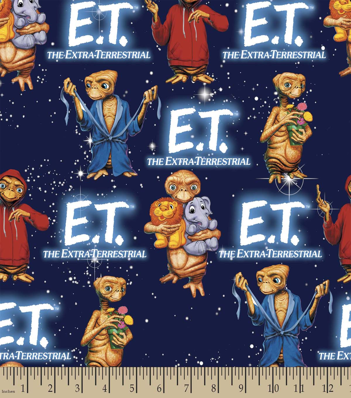 E.T. The Extra Terrestrial Print Fabric