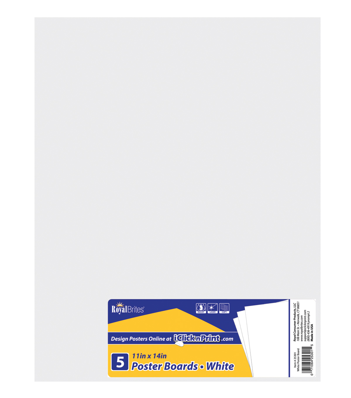 Royal Lace-Posterboard 11\u0022X14\u0022 5/Pkg-White-Gridded