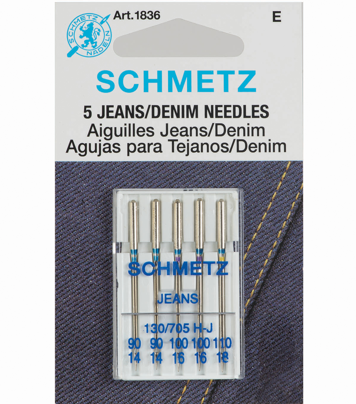 Schmetz Denim Needles Assorted 5pcs