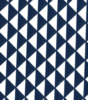 Quilter\u0027s Showcase™ Cotton Fabric-Triangles Blue/White