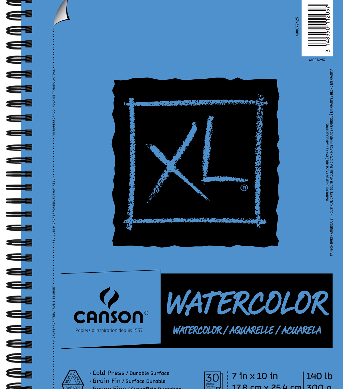 Canson® XL 7\u0027\u0027x10\u0027\u0027 30 Sheets Spiral Watercolor Pad