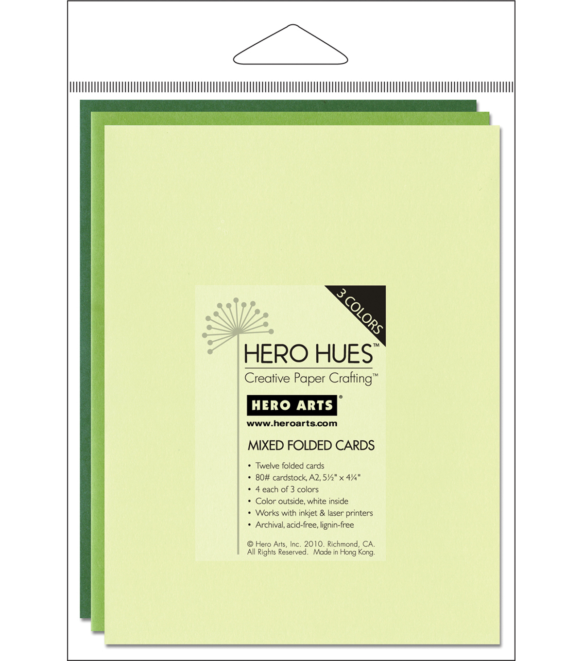 Hero Arts 5-1/2\u0022x4-1/4\u0022 Folded Cards-12PK/Foliage Mix