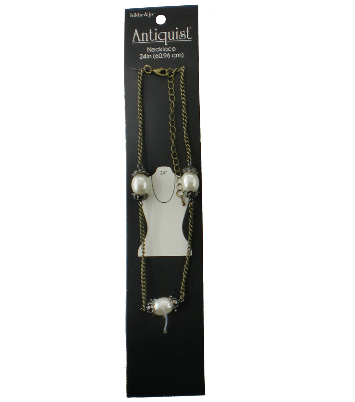 hildie & jo™ Antiquist 24\u0027\u0027 Antique Gold Necklace-Pearls