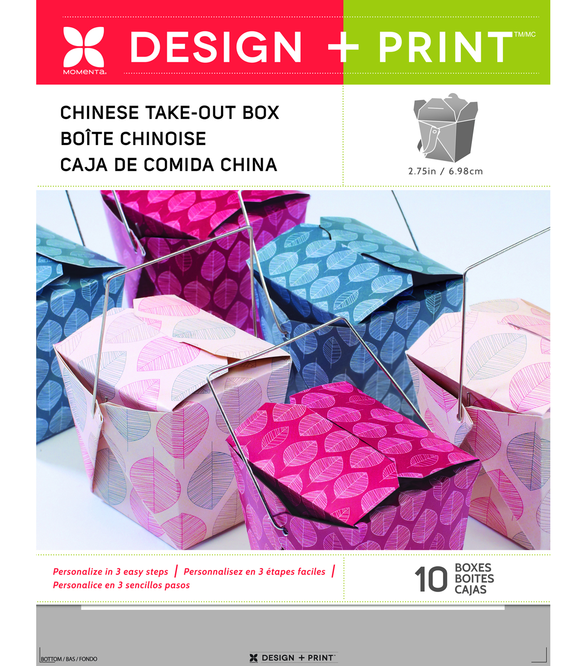 Momenta 10 pk 2.75\u0027\u0027 Design & Print Chinese Take Out Boxes