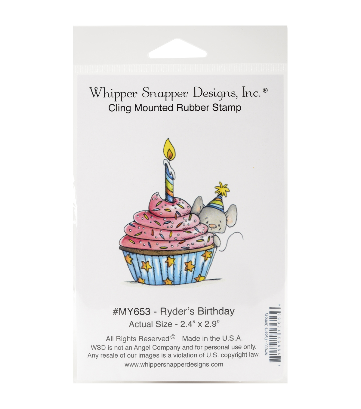 Whipper Snapper Cling Stamps-Ryder's Birthday