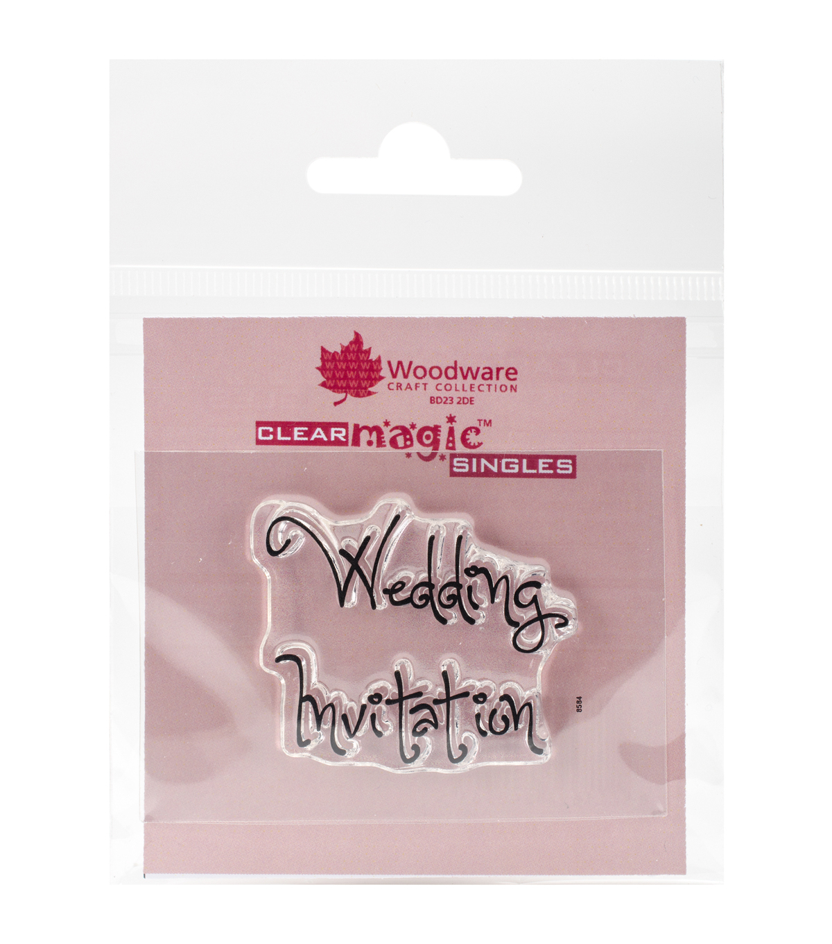 Woodware Craft Collection Clear Magic Single Stamps-Wedding Invitation