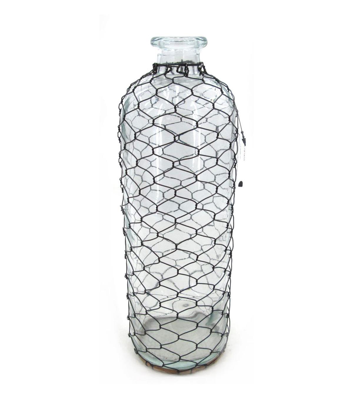 Bloom Room Glass Vase With Chicken Wire | JOANN