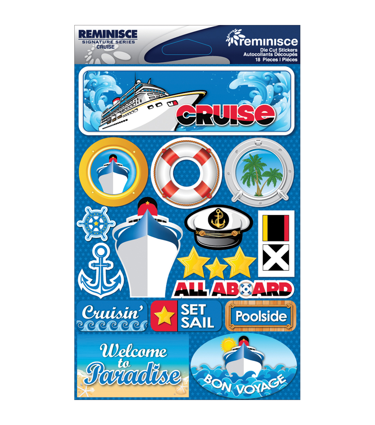 Reminisce Signature Dimensional Stickers Cruise