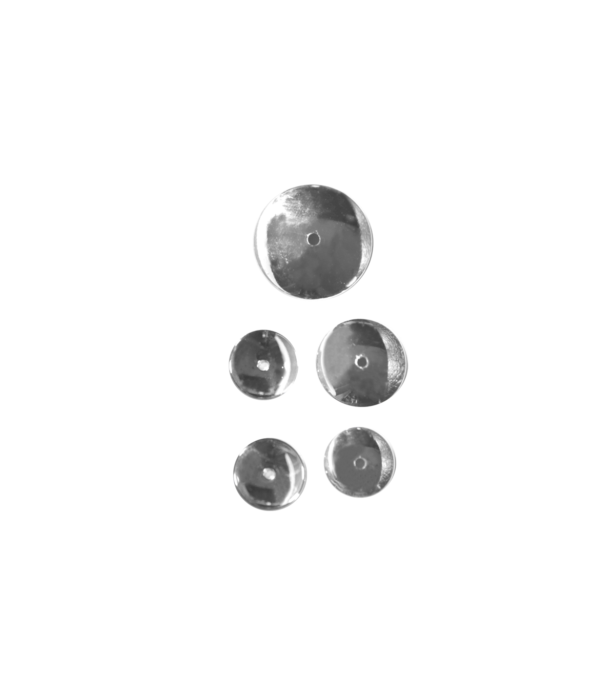Blue Moon Findings Bead Cap Metal Assorted Smooth Silver