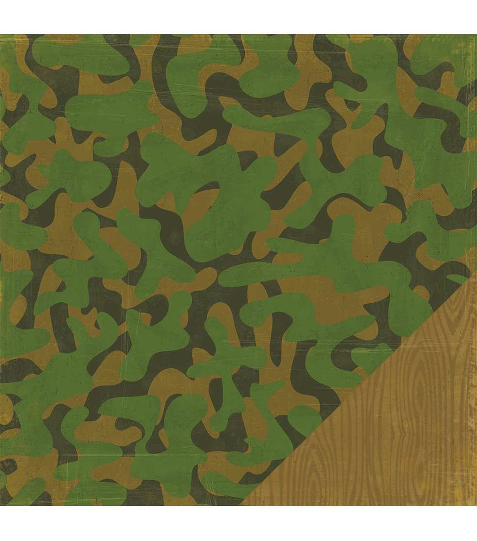 American Crafts Travel Camouflage Double-Sided Cardstock